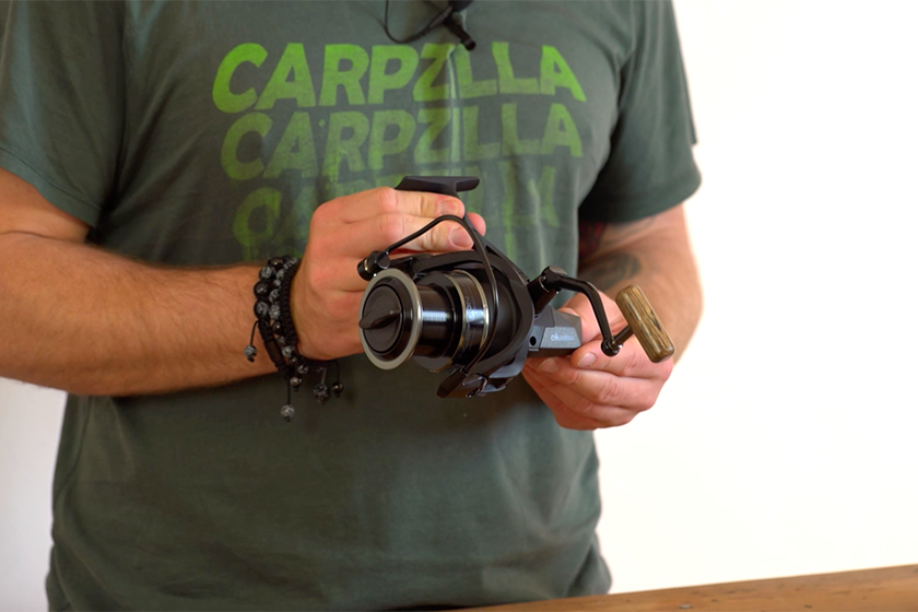 Die Okuma Inception Rolle im Carpzilla Unboxing.