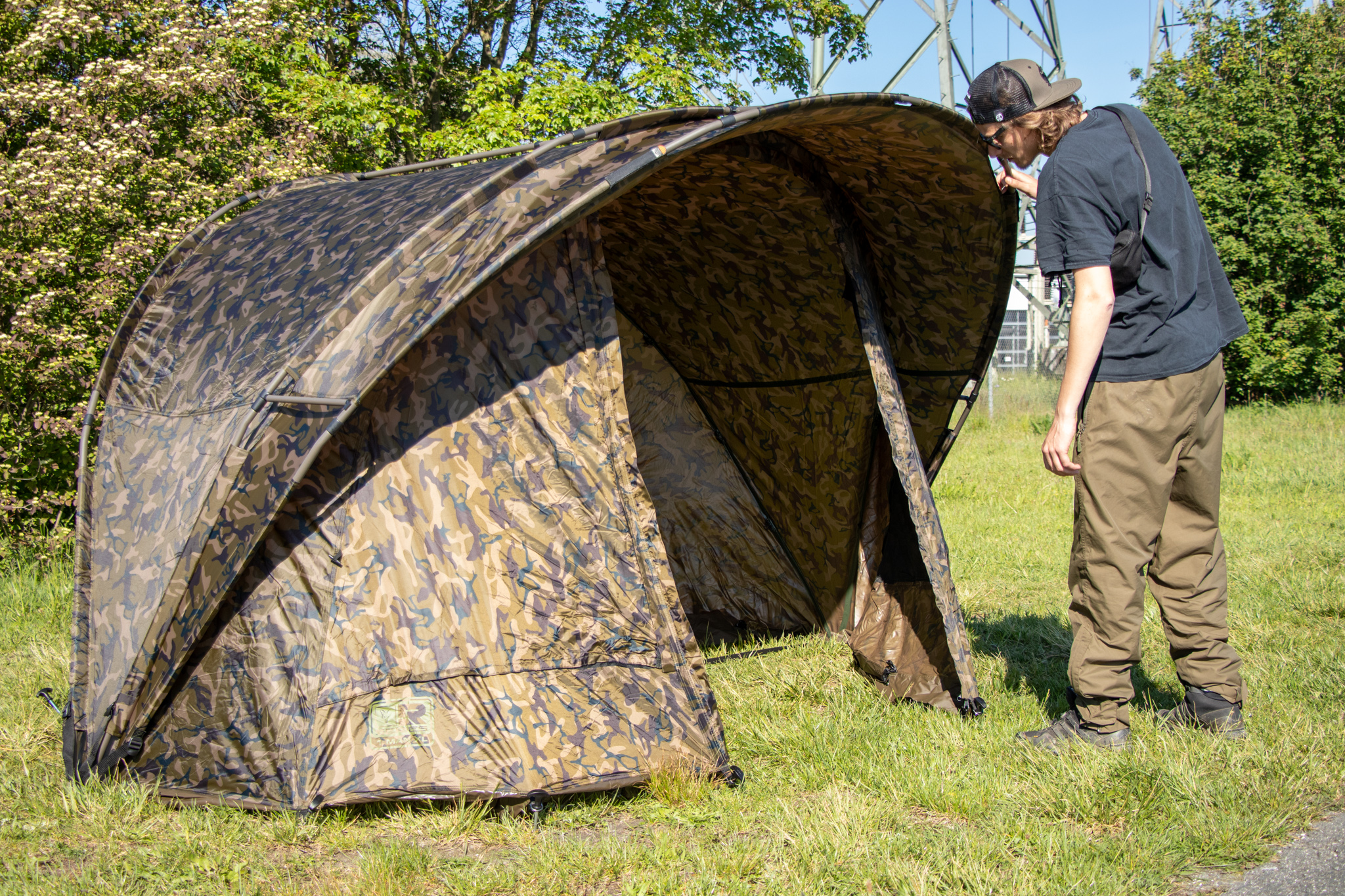 Im Video-Review: das Fox R-Series 1 MAN XL Bivvy