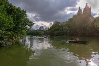 Ruderboote im Central Park in New York