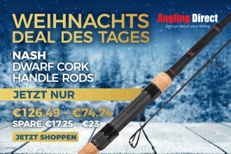 Heute im Angling Direct Adventskalender: Die Nash Dwarf Kork Handle Rods, ab 74,74€