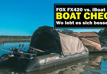 boatlife boat check Fox FX420 vs. iboat 500 Bootsangeln Karpfenangeln 2020